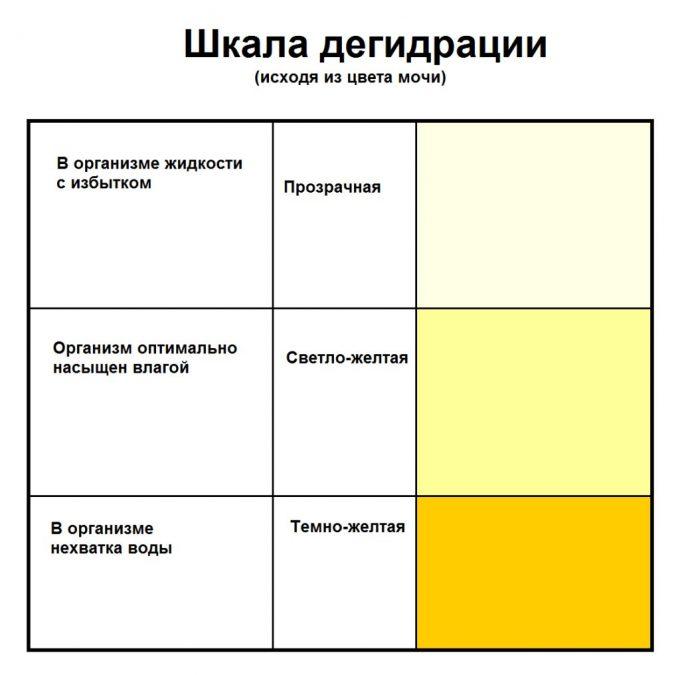 шкала цвета